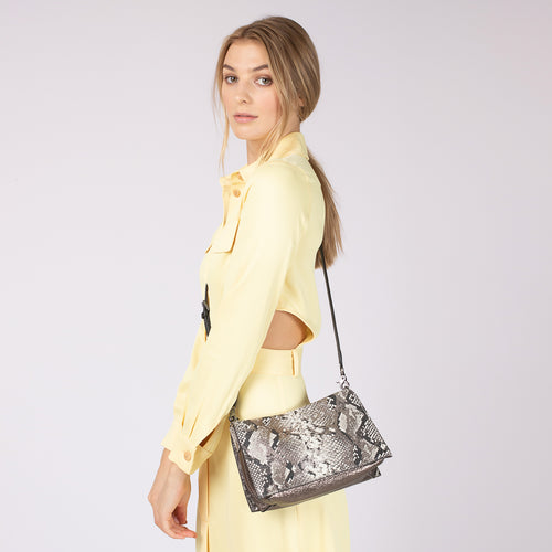 botkier greenpoint crossbody in metallic snake Alternate View