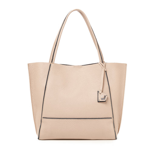 botkier soho zipper detail tote in beige