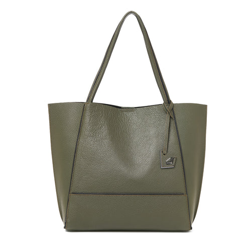 botkier soho zipper detail tote in military green