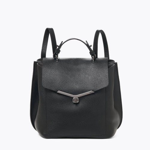 botkier valentina front clasp backpack in black