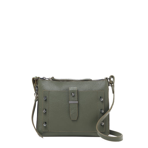 botkier warren expandable crossbody in military green