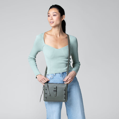 botkier warren expandable crossbody in military green Alternate View