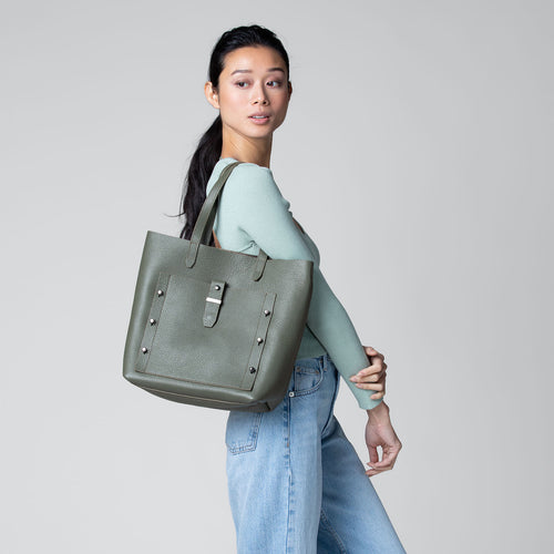 botkier warren tote in military green Alternate View