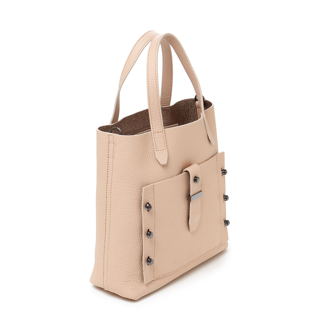 botkier warren bite size satchel in beige