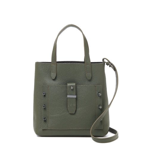botkier warren bite size satchel in military green