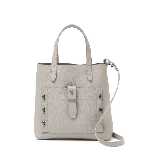 botkier warren bite size satchel in silver grey