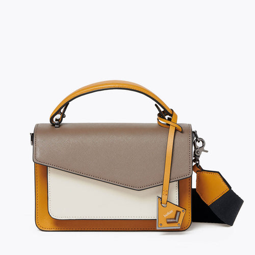 botkier cobble hill crossbody golden truffle combo front
