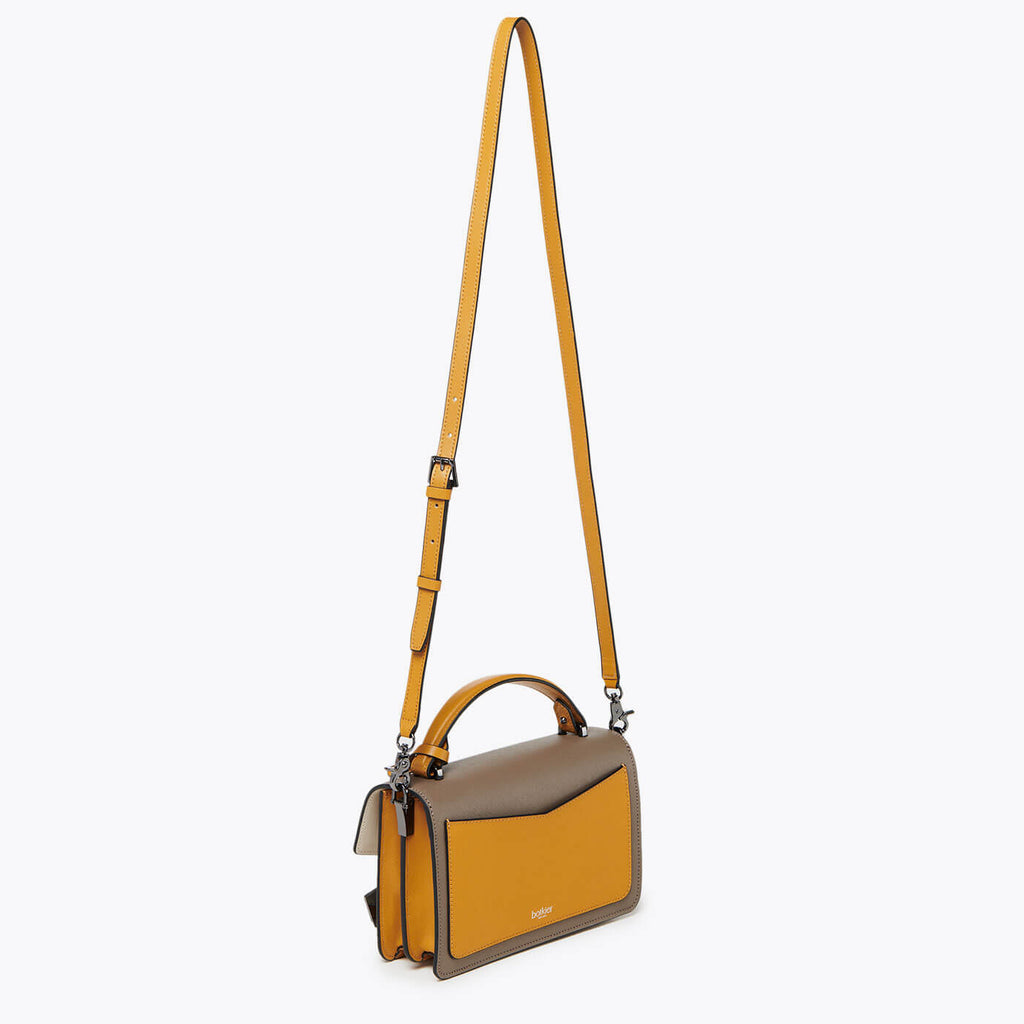 botkier cobble hill crossbody golden truffle combo leather strap
