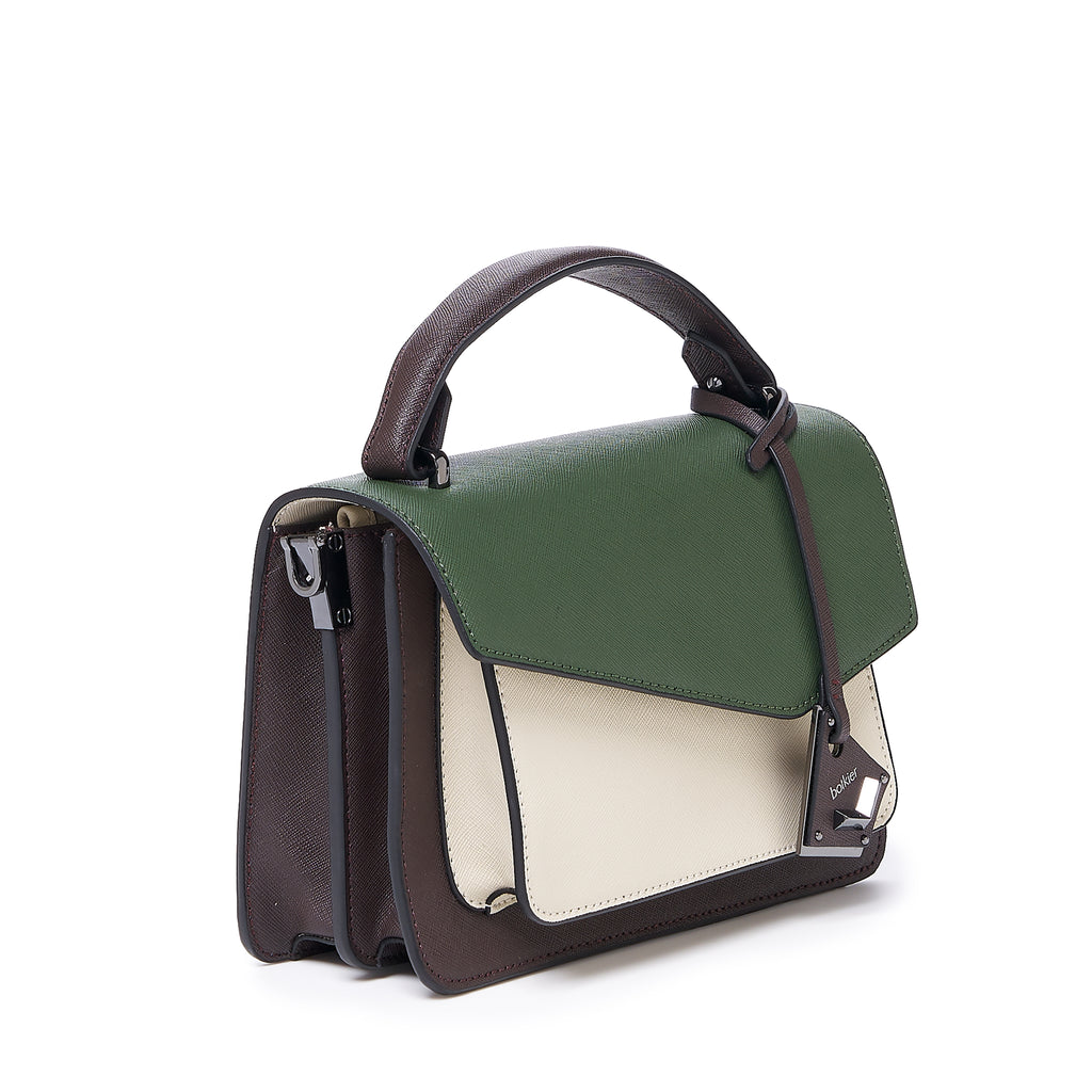 botkier cobble hill crossbody hunter green combo angle