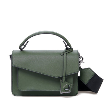 botkier cobble hill crossbody hunter green front