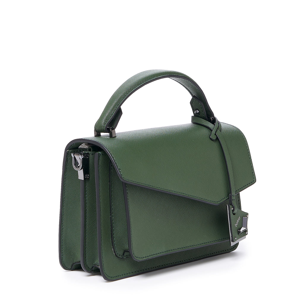 botkier cobble hill crossbody hunter green angle