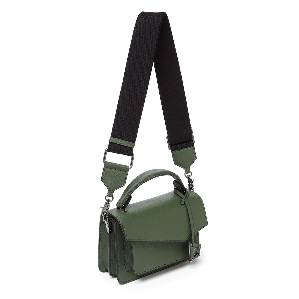 botkier cobble hill crossbody hunter green webbed strap
