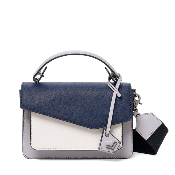 botkier cobble hill crossbody navy combo front