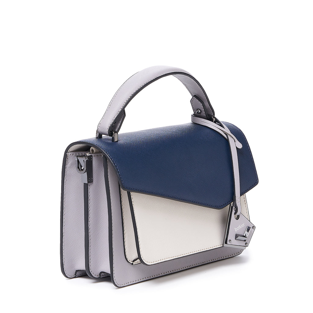botkier cobble hill crossbody navy combo angle