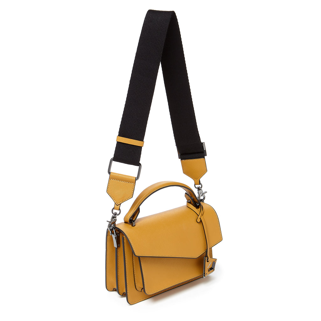 botkier cobble hill crossbody golden webbed strap