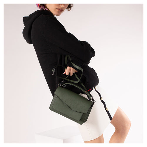 botkier cobble hill crossbody hunter green front Alternate View
