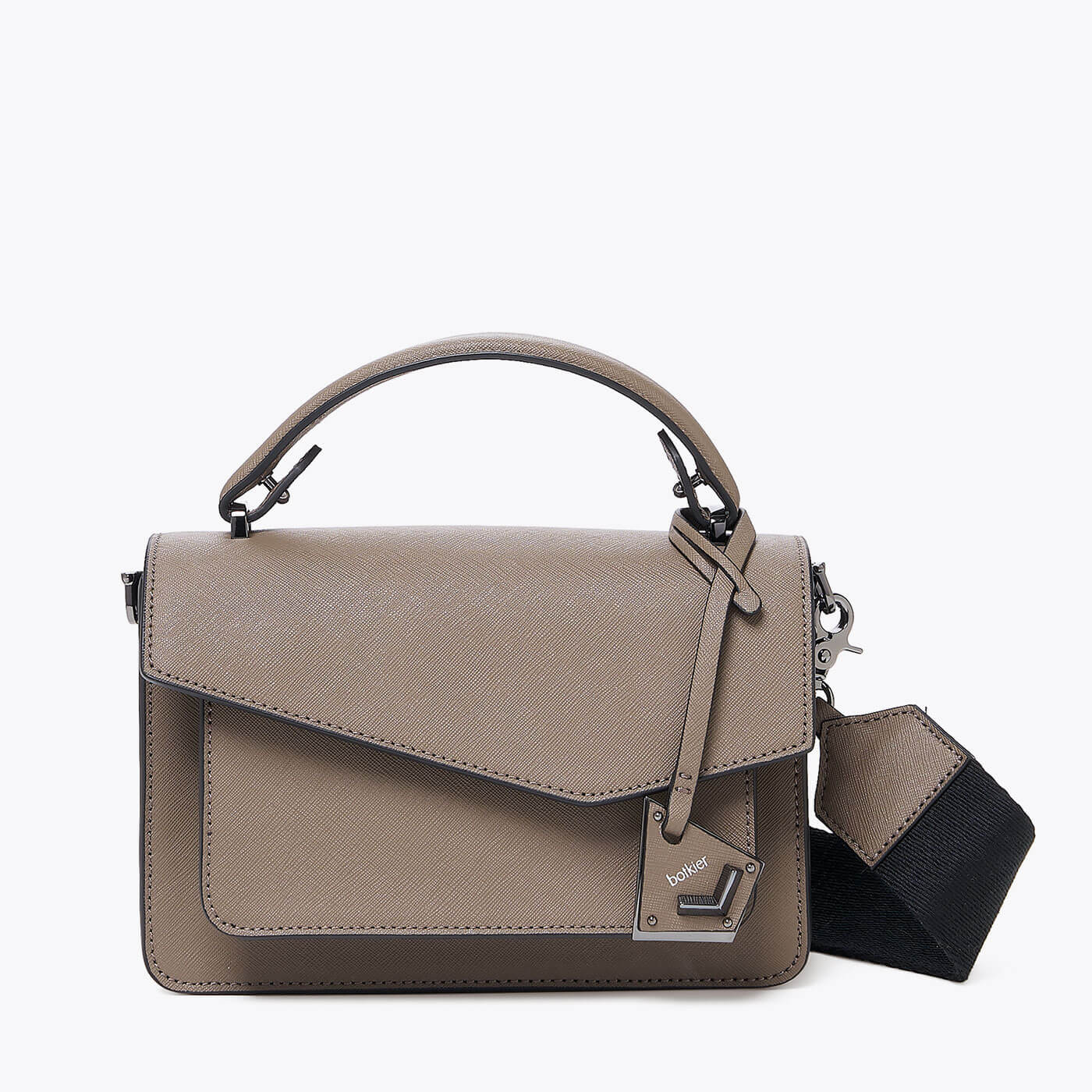 botkier cobble hill crossbody truffle front