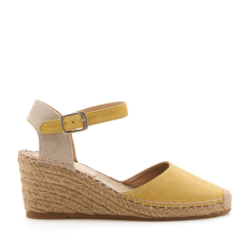 botkier elia low heel wedge espadrille in summer lemon meringue yellow