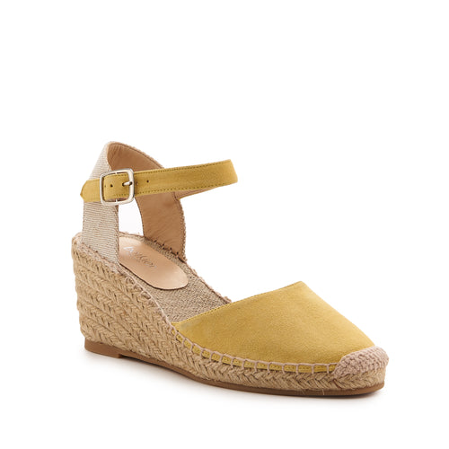 botkier elia low heel wedge espadrille in summer lemon meringue yellow Alternate View