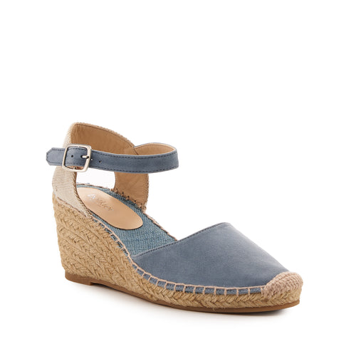 botkier elia low heel wedge espadrille in summer denim blue Alternate View