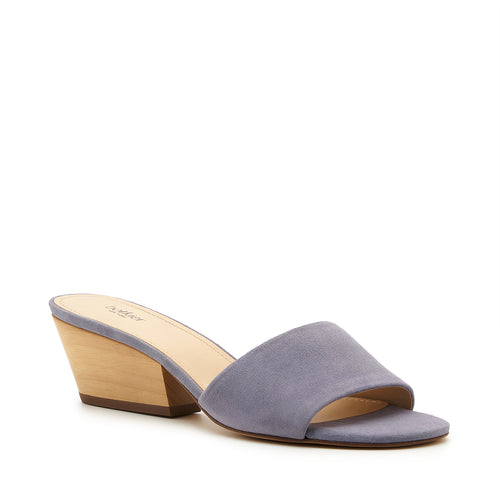 botkier carlie wood low heel slip on sandal mule in purple haze Alternate View