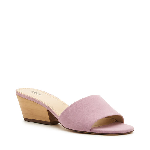 botkier carlie wood low heel slip on sandal mule in lavender purple  Alternate View