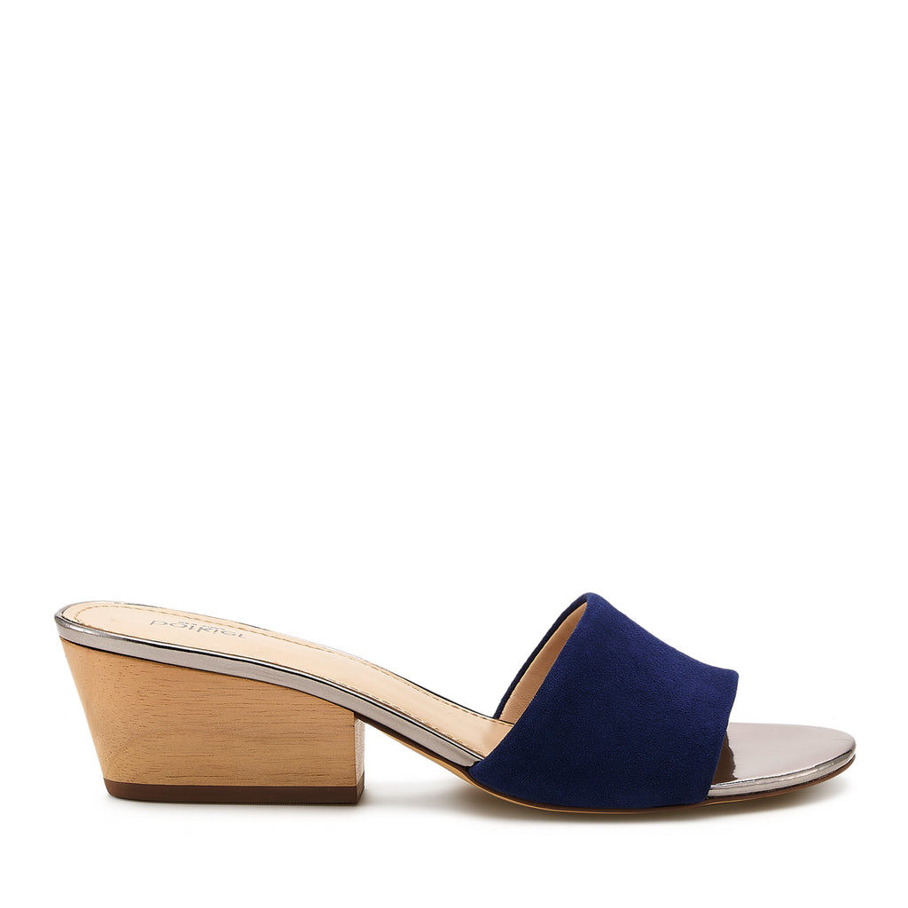 botkier carlie mule midnight blue side view
