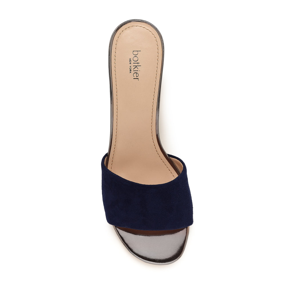 botkier carlie mule midnight blue top view