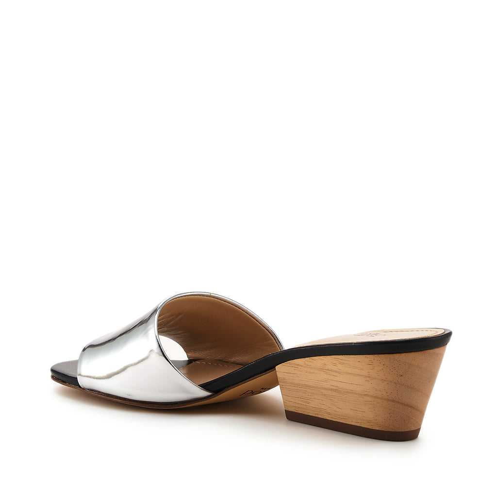 Carlie Mule (Silver) - Leather Shoes