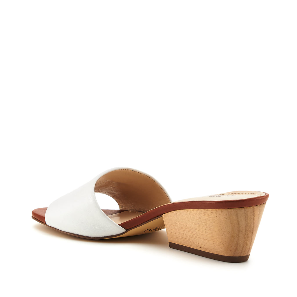 botkier carlie mule white cognac back angle view