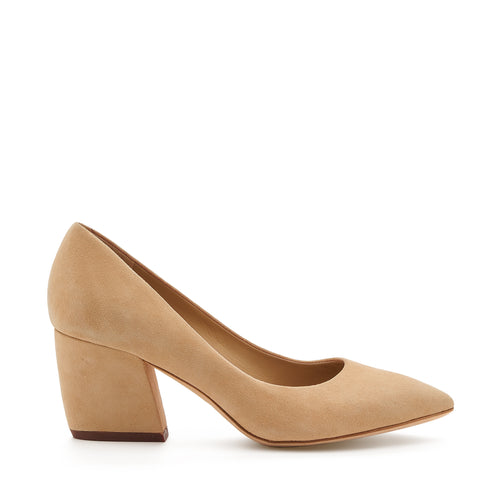botkier stella almond toe low heel pump in biscuit brown