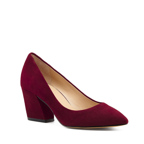 botkier stella almond toe low heel pump in bordeaux red Alternate View