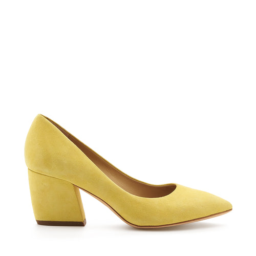 botkier stella almond toe low heel pump in lemon meringue yellow
