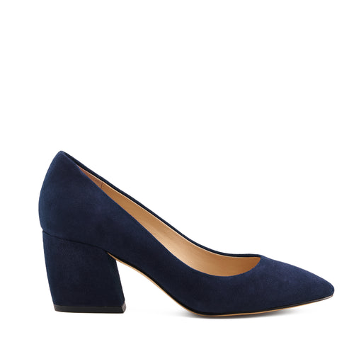 botkier stella almond toe low heel pump in winter navy