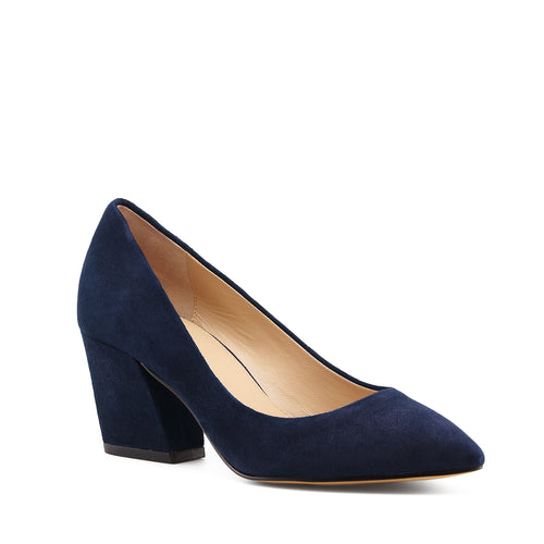 botkier stella almond toe low heel pump in winter navy Alternate View