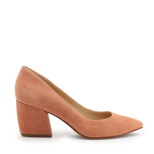 botkier stella almond toe low heel pump in soft peach pink