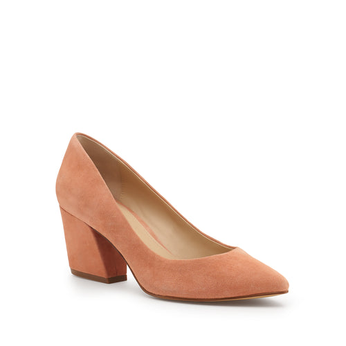 botkier stella almond toe low heel pump in soft peach pink Alternate View