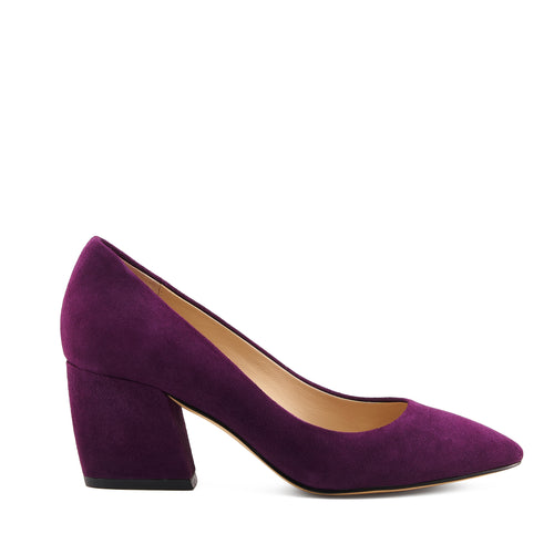 botkier stella almond toe low heel pump in winter purple