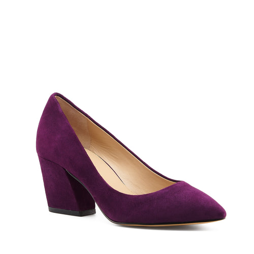 botkier stella almond toe low heel pump in winter purple Alternate View