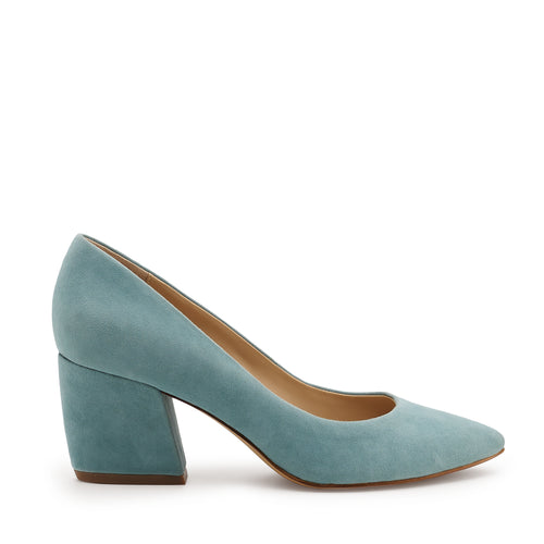 botkier stella almond toe low heel pump in seafoam blue