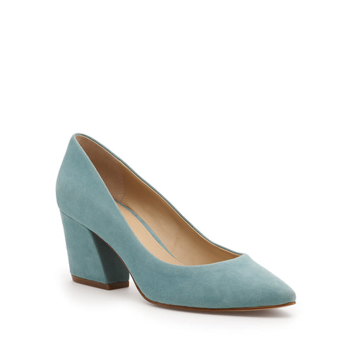 botkier stella almond toe low heel pump in seafoam blue Alternate View