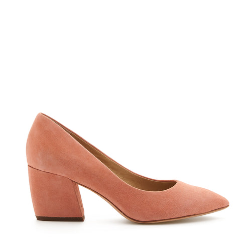 botkier stella almond toe low heel pump in summer melon pink