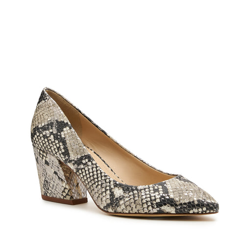 botkier stella almond toe low heel pump in metallic snake Alternate View