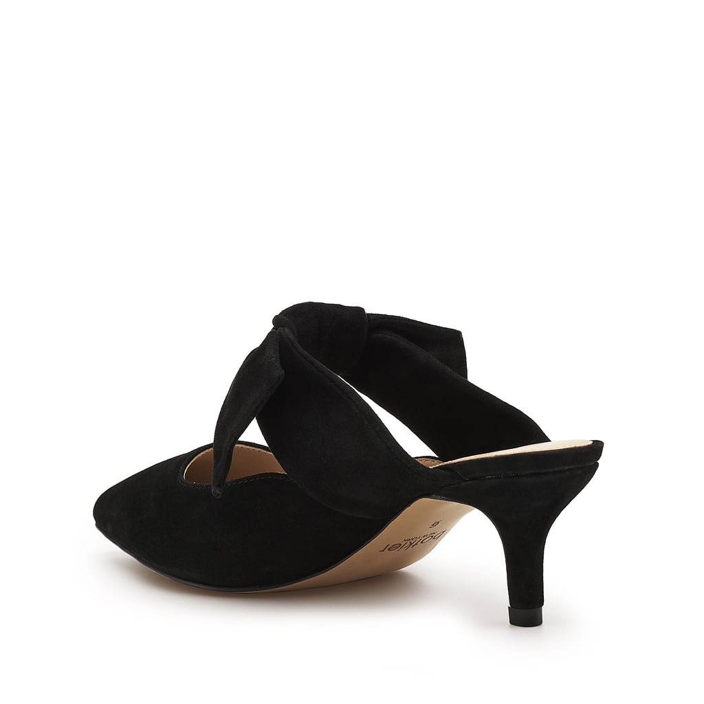 pina kitten heel black back angle