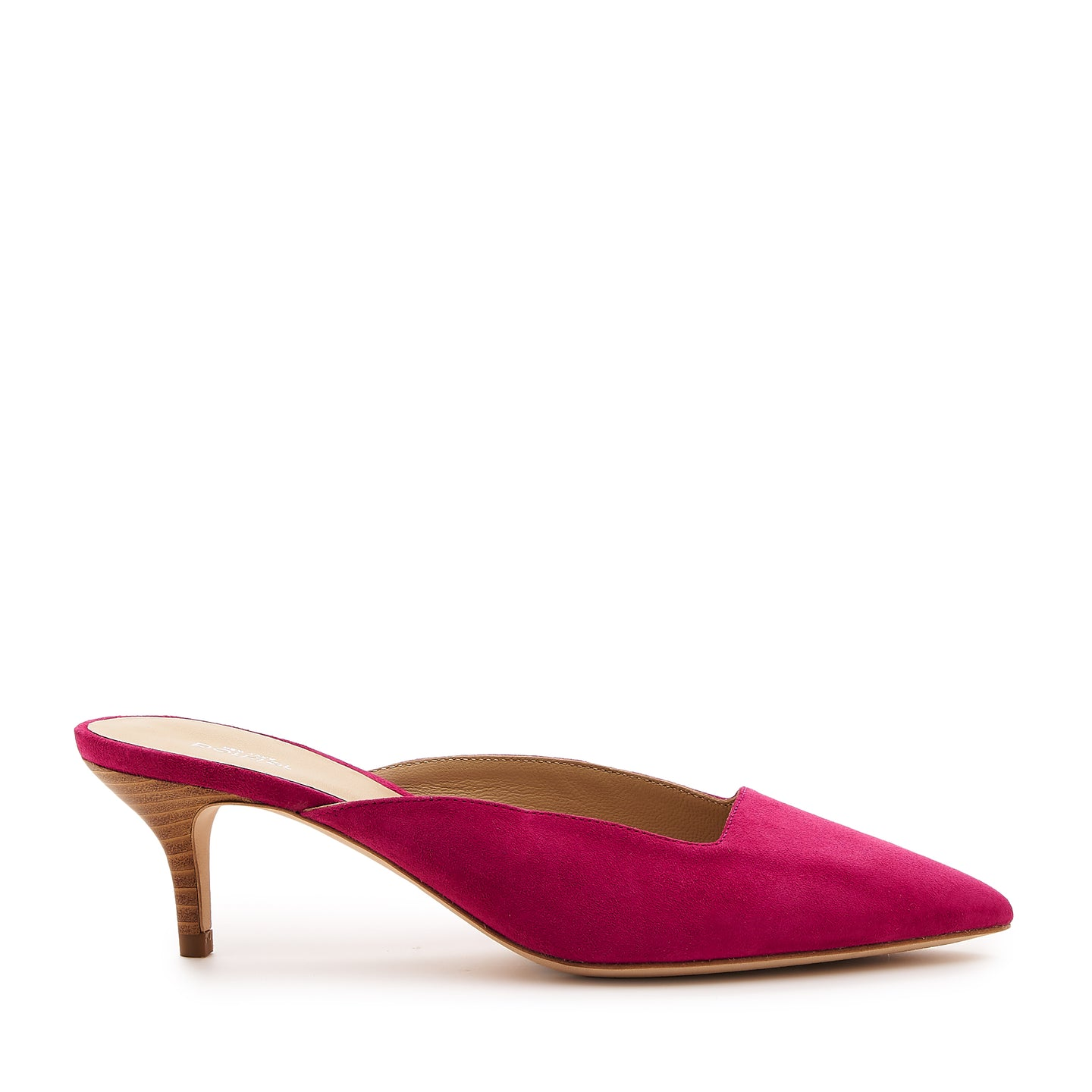 botkier perry kitten heel pointed toe mule in azalea pink