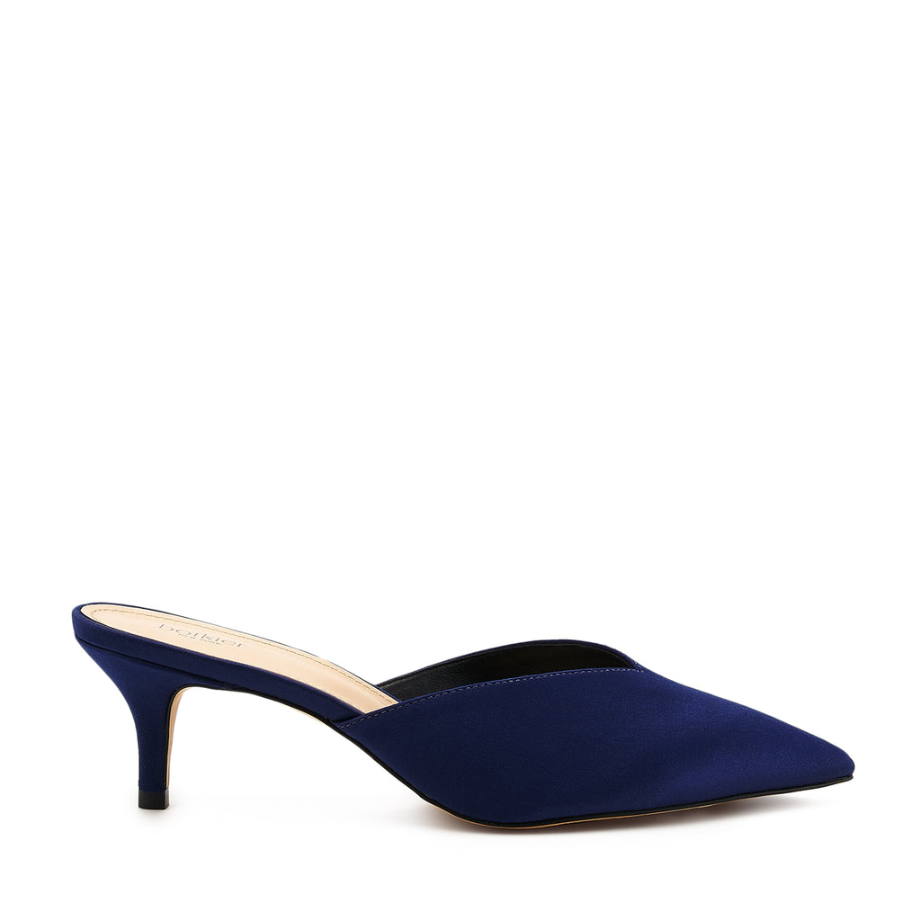 botkier pati pointed toe mule in midnight satin