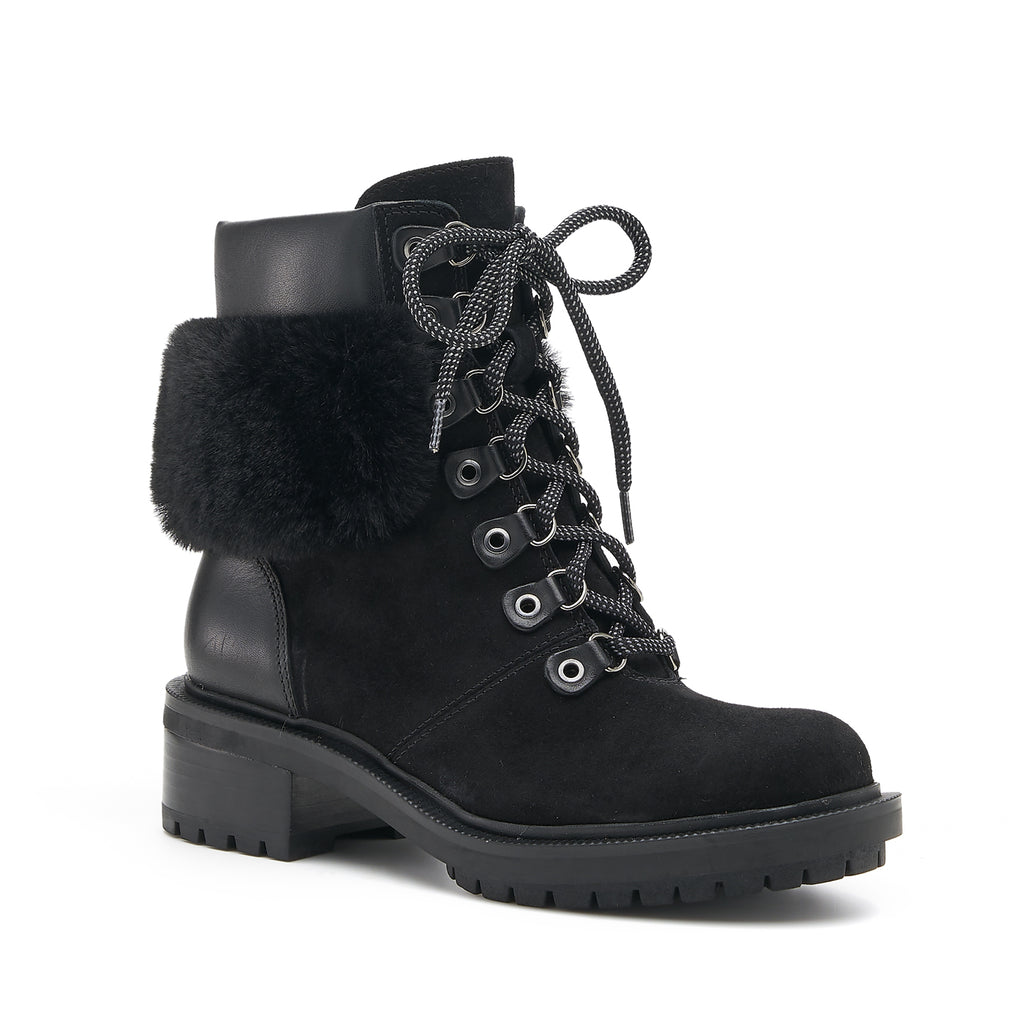 botkier madigan boot black fur front angle