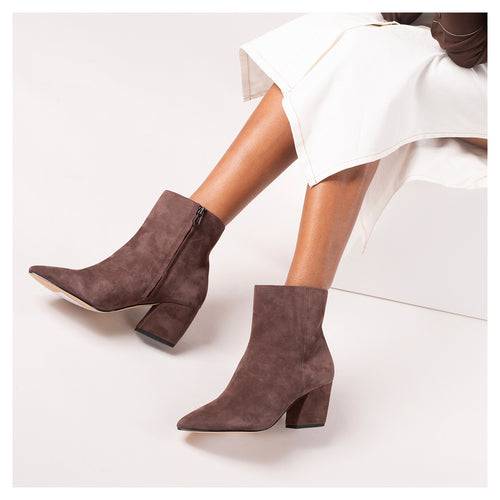 botkier sasha bootie dark brown side Alternate View