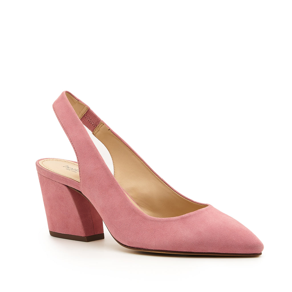 botkier shayla slingback almond toe low heel pump in dusty rose pink