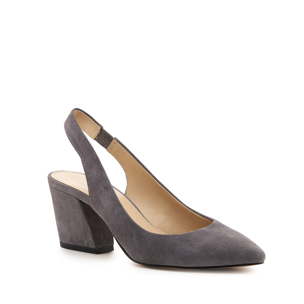 botkier shayla slingback almond toe low heel pump in french grey